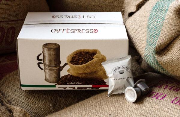 scatola capsule compatibili nespresso di caffè artigianale