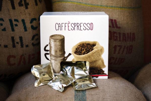 scatola di cialde carta ese 44 di caffè artigianale di Epifani Caffè