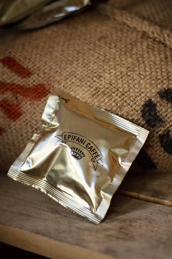 pacchetto singolo cialda copatibile ese 44 compostabile di caffè artigianale di Epifani Caffè