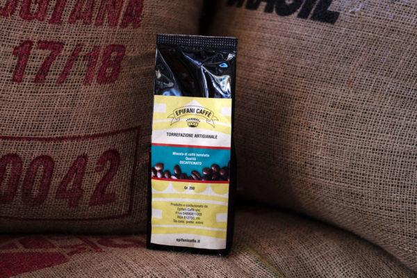 caffè decaffeinato da 250 grammi
